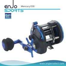 Angler Selecione Mercury Plastic Body / 3 + 1 Bb / EVA Direito Handle Trolling Pesca Reel para Pesca Marítima (Mercury 030)