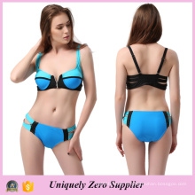 2016 Hotsale Zip Decor Sexy Mix Цвет Tankinis Купальник с двойными плечевыми ремнями