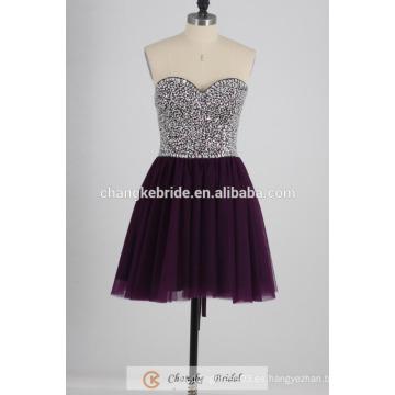 Vestido de cóctel atractivo 2016 fabricantes Vestido corto del vestido del baile de fin de curso cristalino