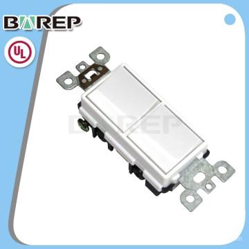 Interruptor de parede padrão americano 2 gang switch UL listados barep YGD-002