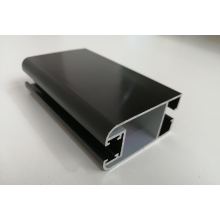 6063 T5 profilés en aluminium anodisé noir