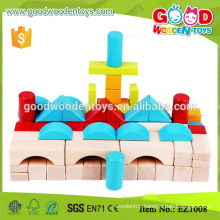 EZ1008 100pcs Early Learning Color Printed Wooden Blocks for kids