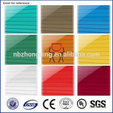 UV protégé en serre plastique creux 8 mm feuille de polycarbonate / serre UV feuille de policarbonate