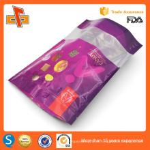 Chino OEM de impresión de plástico laminado reutilizable de pie doypack con cremallera