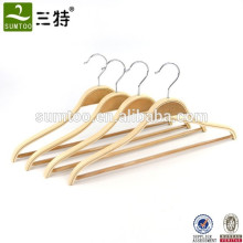 HOT SALE MEN SHIRTS WOODEN HANGER WITH STICKY