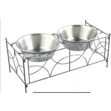 Iron Art Double Pet Fooding Bowl