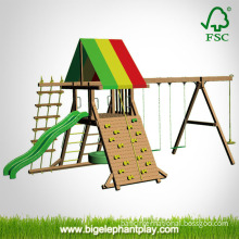 Climbing Frame with Swing / Climbing Net / Slide (Omni-Play)