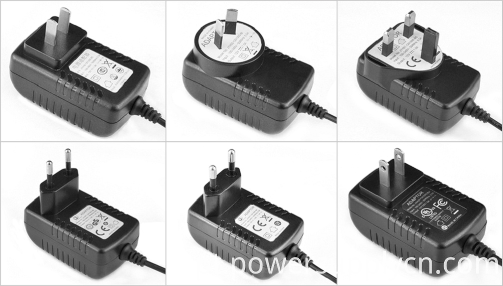 12V1.5A Switching power plug for universal travel AU EU UK US adapter
