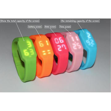 LED Wrist Watch USB Flash Disk Pen Drive for Promotion
