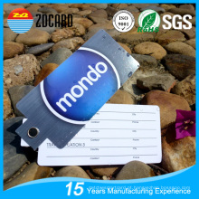 Tag de bagagem de viagem de conbinação com tags de nome de assinatura