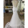 Vestido de noiva de sereia Vestido de noiva com renda de duas peças com varredura e escova P107