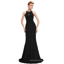 Starzz 2016 Sexy Floor-Length sans manches Backless Plissé Sequins Perles Stretchy Prom Prom Dress ST000089-1