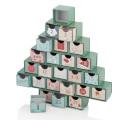 Christmas Tree Shaped Drawers Box Calendar Gift Box