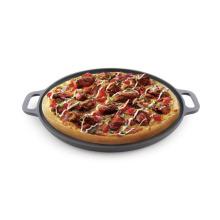 Pre-sazonado Revestimiento de aceite vegetal Recipiente de pizza de hierro fundido