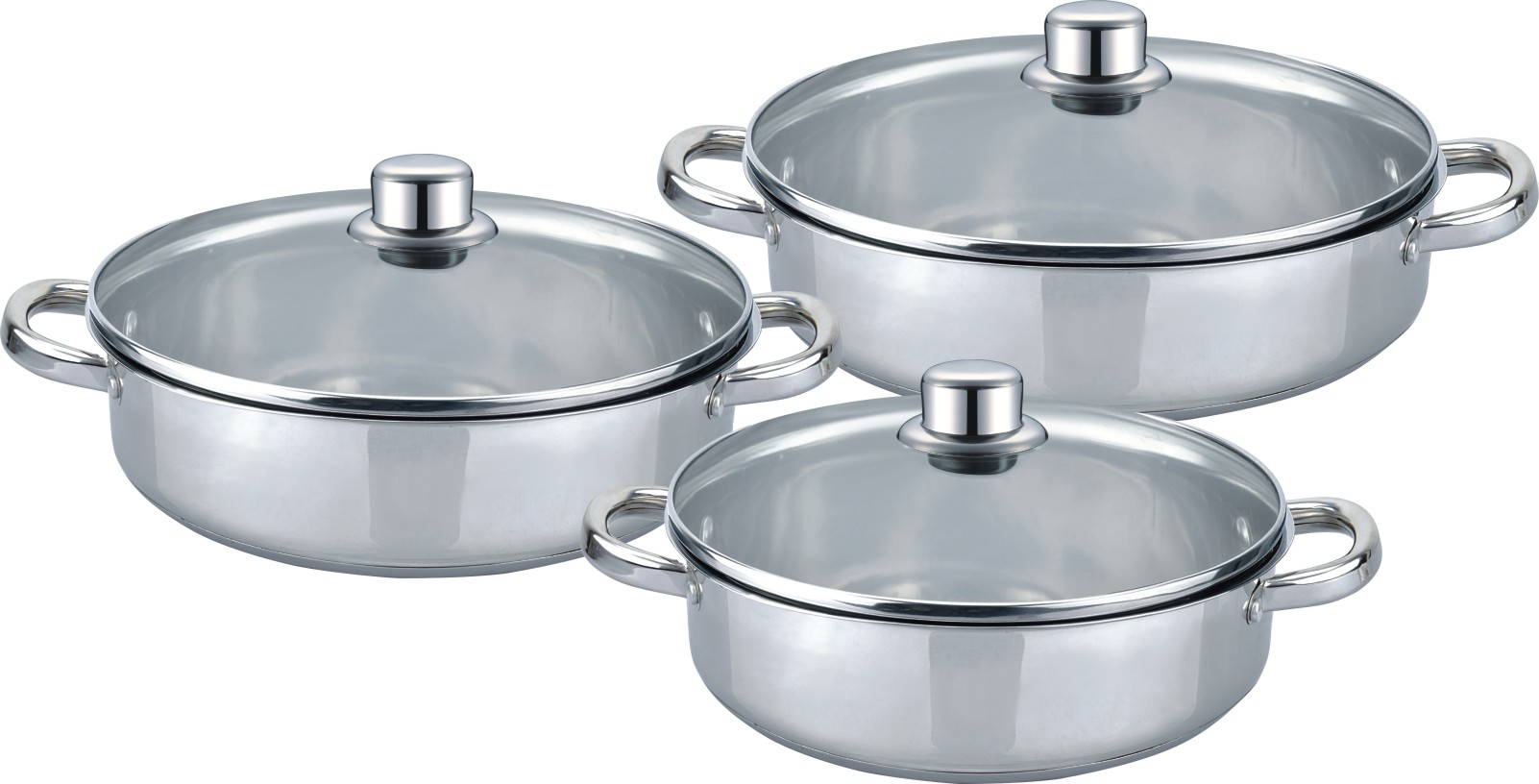 Low Casserole 6pcs cookware set