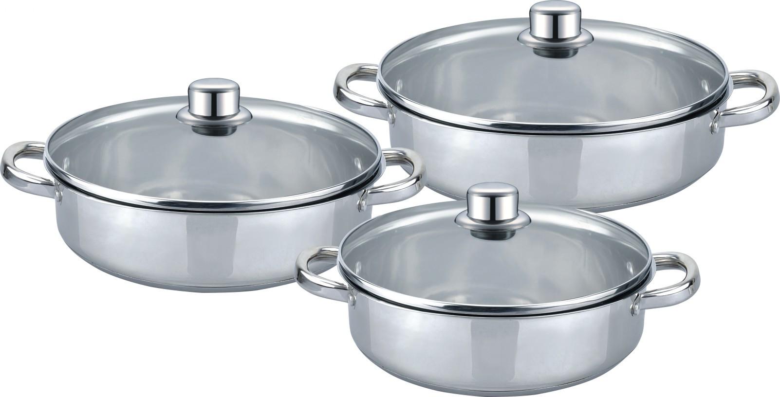 Low Casserole 6pcs cookware set