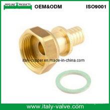 Unión de adaptador de latón para tubo de manguera (PEX-011)