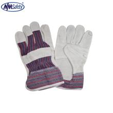 NMSAFETY Китай производство дешевые кожа безопасности сварки ладони en388 перчатки