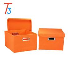Caixa de armazenamento não tecido / caixa de armazenamento dobrável / caixa de organizador de armazenamento eco-friendly