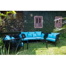Poly Rattan Wicker Couch Set Für Outdoor Garten