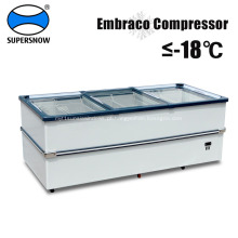 Frigorífico congelador de porta deslizante horizontal