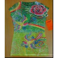 sublimação de algodão escuro camiseta impressão de transferência de calor