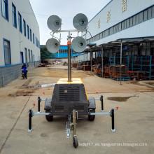 Proyector de iluminación portátil generador diesel torre de luz generador FZMDTC-1000B