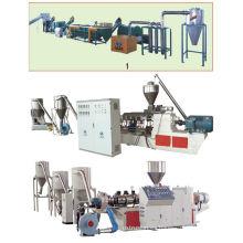 Máquina de granulación de plástico compuesto de madera de PVC