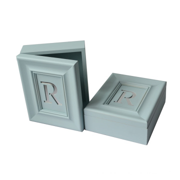 New Bule Letter Wooden Box for Gift