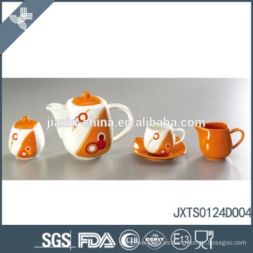 Bastante mejor calidad de cerámica resistente a la cáscara de té de café azúcar conjunto