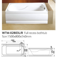 Apron Acrylic Bathtub with Cupc Certification