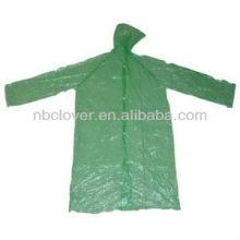 Impermeável de plástico / impermeável com capuz mulheres / impermeável transparente