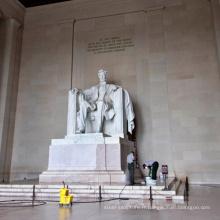 Vente chaude Abraham Lincoln marbre Statue