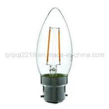 Bulbo claro do filamento do diodo emissor de luz da luz da loja do dim tamanho B22 de 1.5W C35