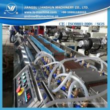 WPC linha de produção de perfil com alta qualidade de serviços no exterior