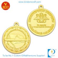 China Aleación barata del cinc de la profesión 3D medalla del recuerdo del chapado en oro lateral con el logotipo de encargo