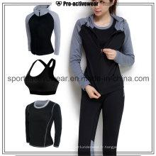 OEM High Qualiity Low MOQ Vente en gros Quick Dry Women Sport Wear Suit