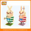 Jouet en bloc de construction plastique, mini figurine pour enfants