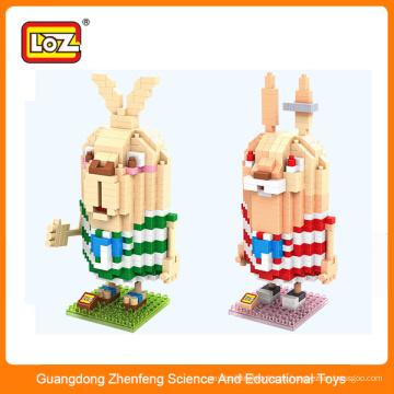 Plastikkaninchen Baustein Spielzeug, Mini Action Figur für Kinder