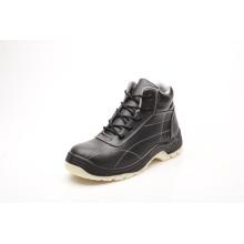 Calçado de segurança de couro liso brilhante de alta qualidade (HQ05071)