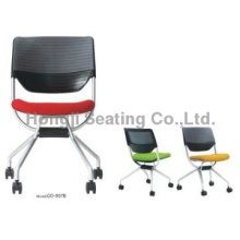 folding swivel with wheel without  armrest conference/office chair