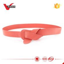 2015 mais novo design não Buckle Ladies Leather Belts