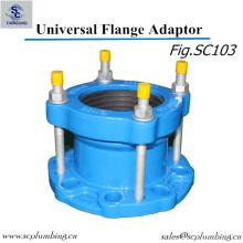 Adaptador dúctil da flange do ferro da vasta gama para a tubulação de Di