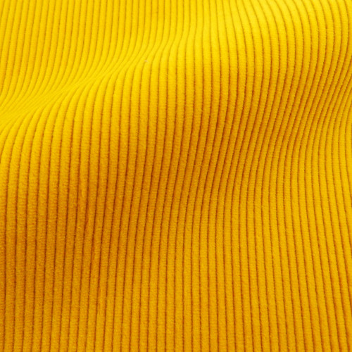 Yellow corduroy fabric