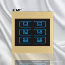 Cadre de contour en acrylique de 2 gangs Curtain Switch (CT100-AC2)