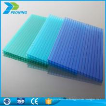 100% Markrolon uv hohl zwei Wand Polycarbonat Dachplatte