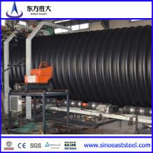 Tubulação ondulada de parede dupla de PE de alta densidade para proteger o ambiente