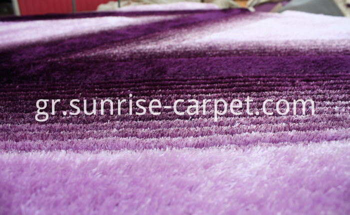 Silk 3D &4D Shaggy Rug Purple
