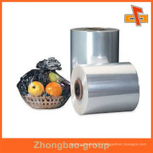 Guangzhou vendor POF shrinkable water proof heat sensitive customizable clear transparent packing sleeves for dishes