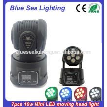 Professional China 7 * 10W RGBW dmx 4-en-1 mini tête de lavage à la tête de lavage